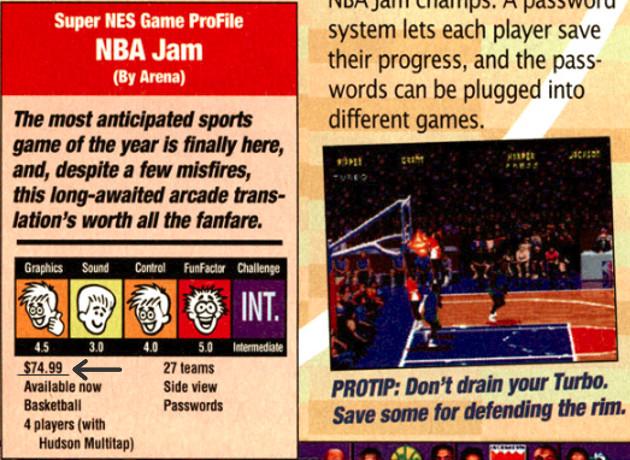 NBA Jam price