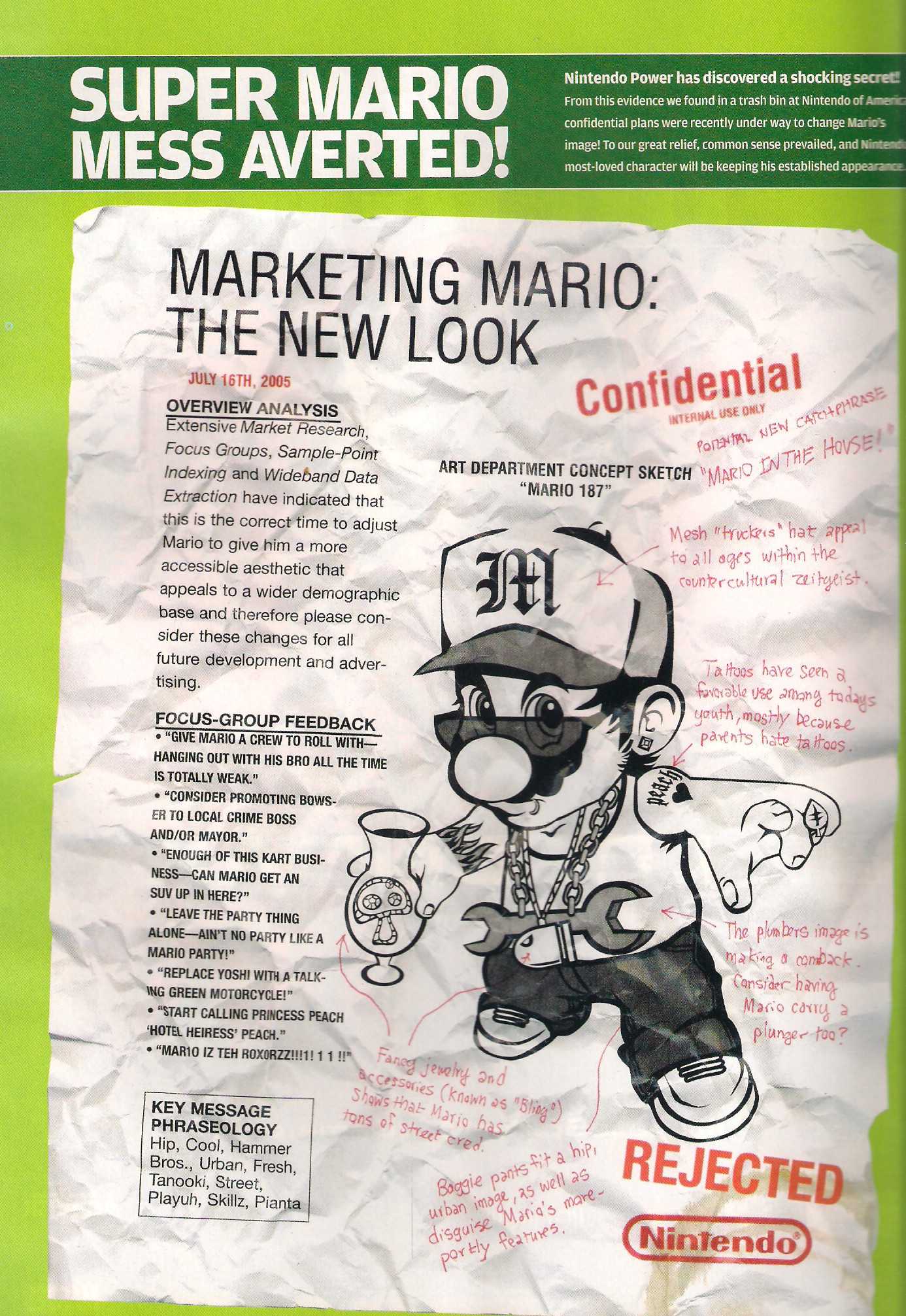 Nintendo Power Mario bong