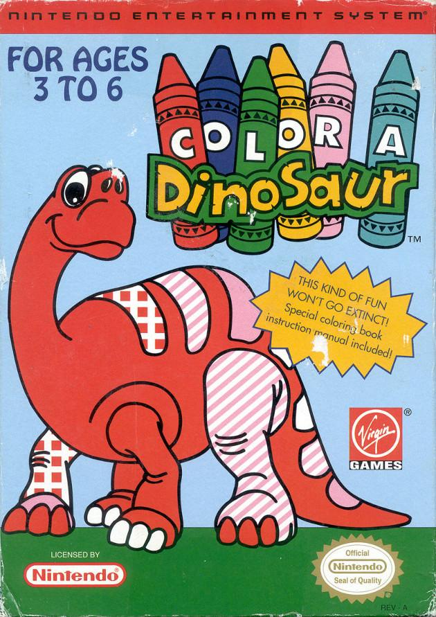 color a dinosaur box art