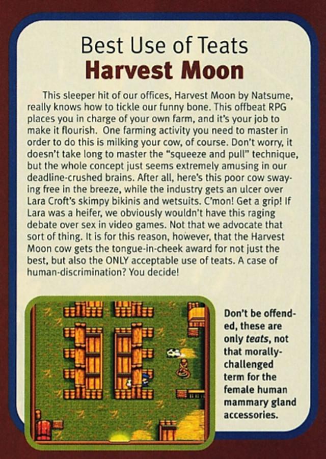 Teats in Harvest Moon