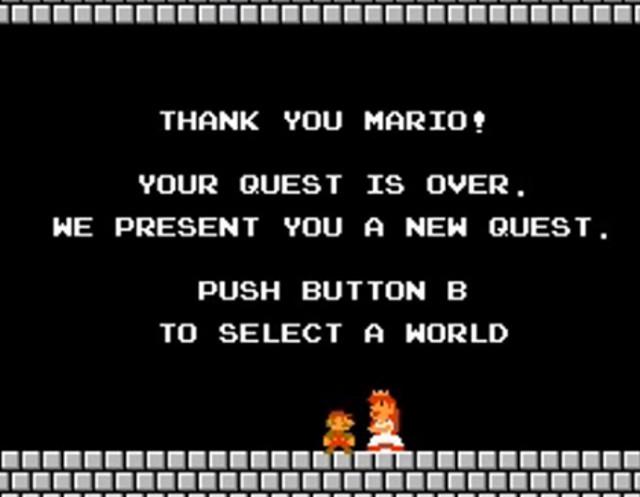 Super Mario Bros Ending