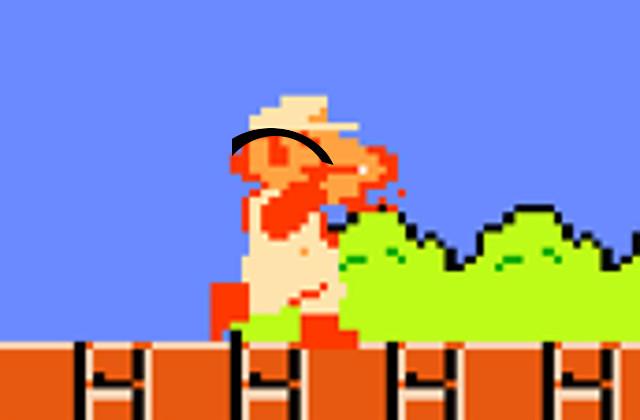 Super Mario Bros Throw Arc