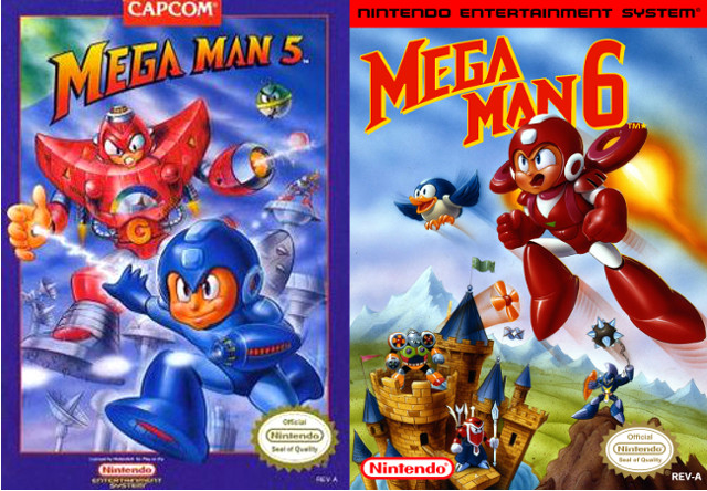 Mega Man 5 and 6 Box Art