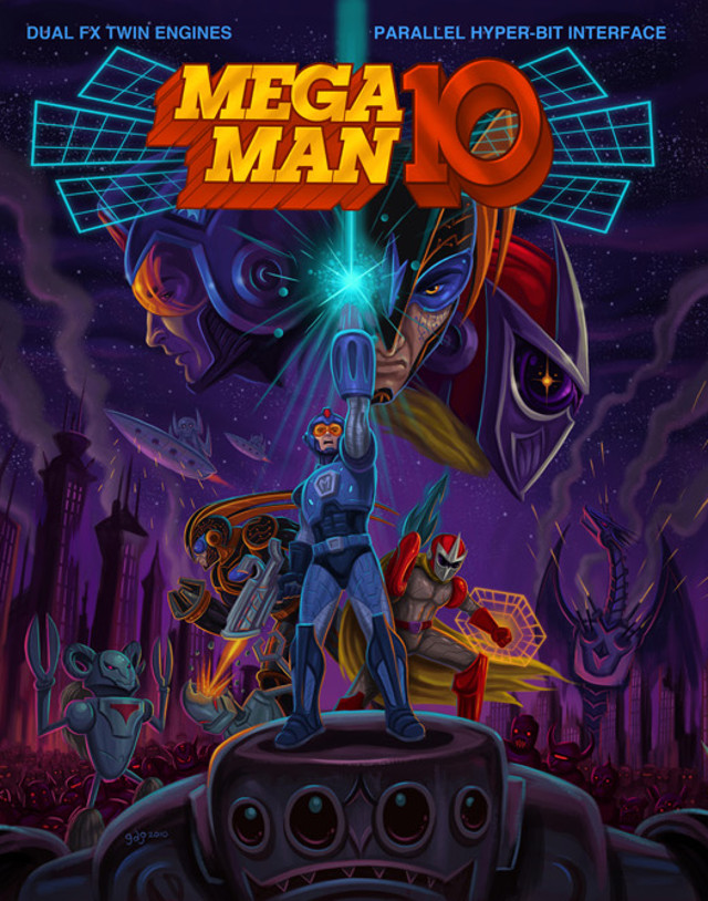 Mega Man 10 Box Art