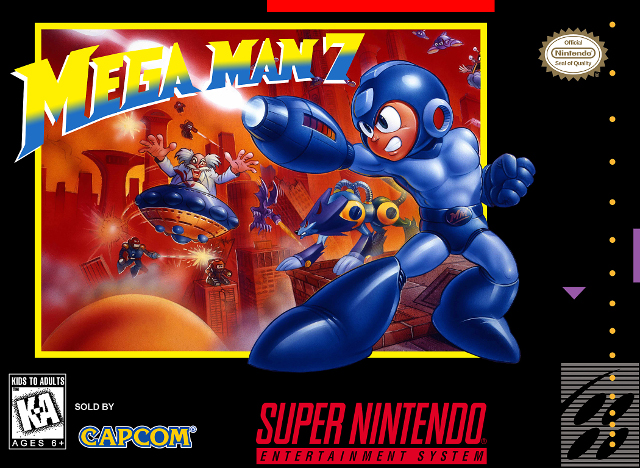 Mega Man 7 Box Art
