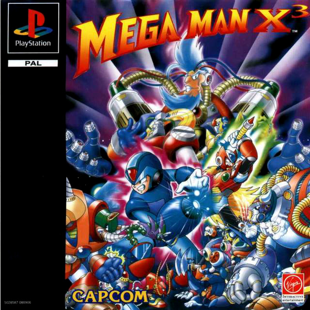 Mega Man X3 Box Art