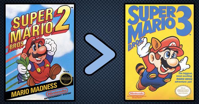 Super Mario 2 vs Super Mario 3