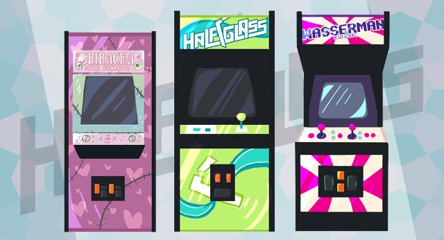 Half-Glass Gaming Arcade Machines