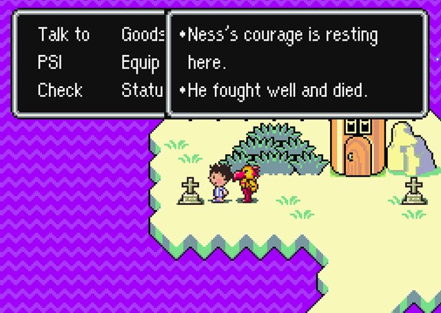 earthbound flying man grave