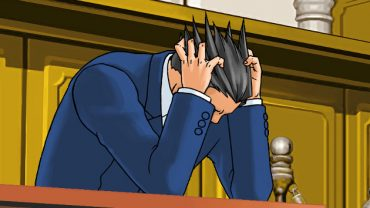 Phoenix Wright facepalm