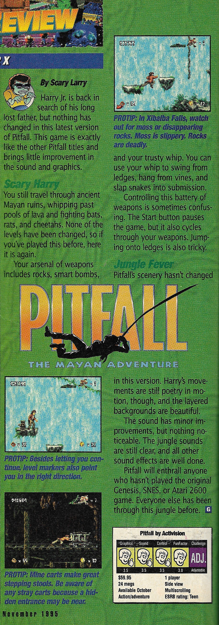 Pitfall Review