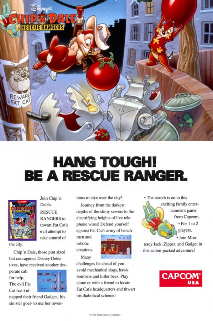 Chip 'n Dale: Rescue Rangers Ad (United States)