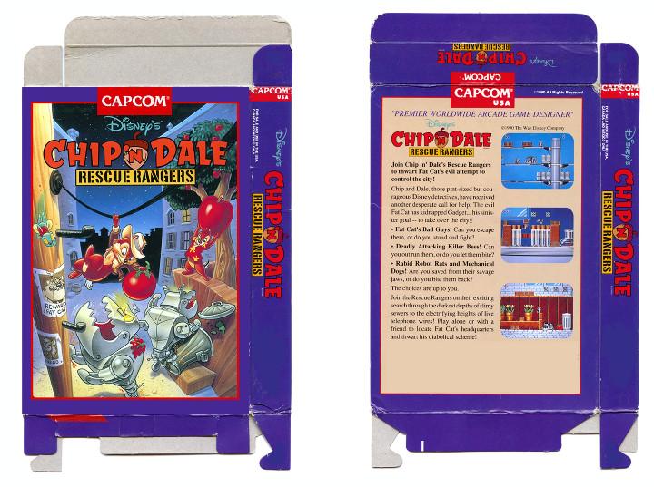 Chip 'n Dale: Rescue Rangers NES Box Art