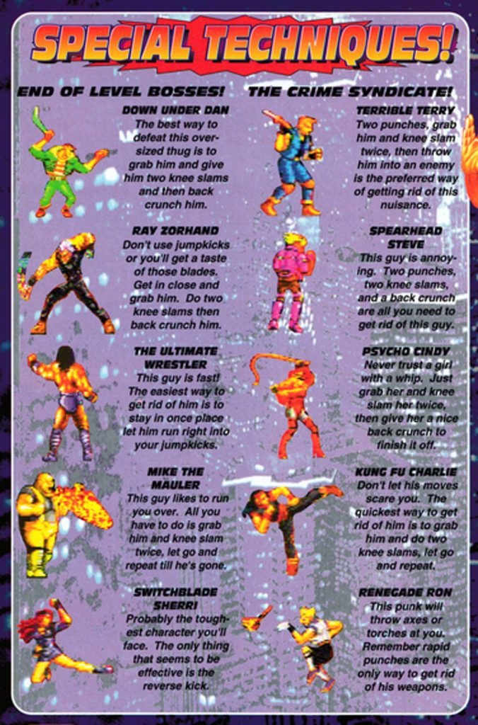 Streets of Rage Guide