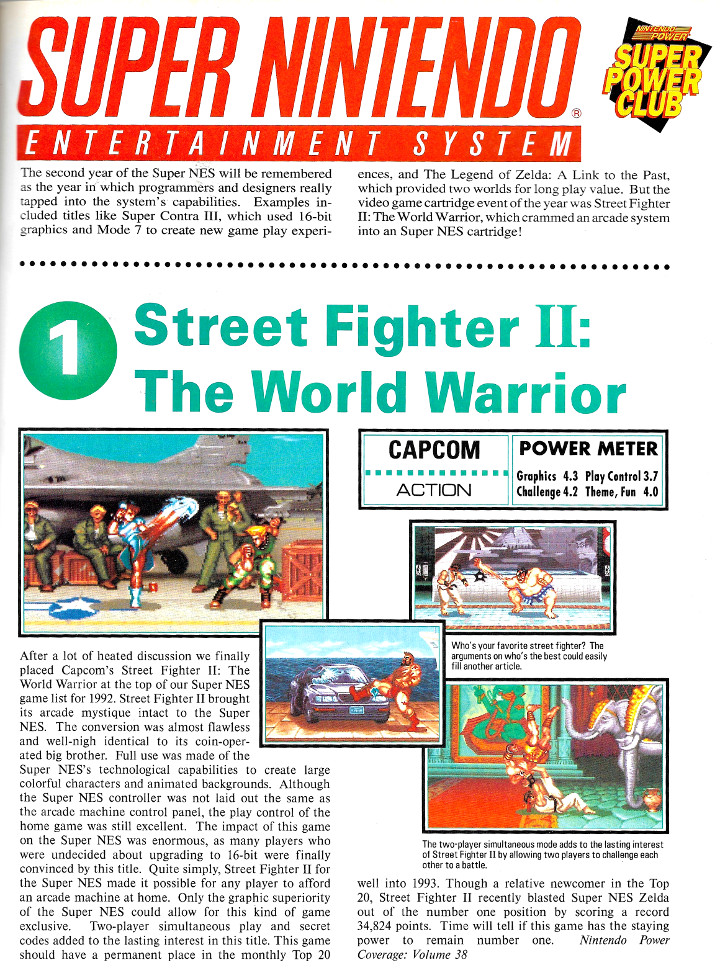 Nintendo Power - Top 10 of 1992
