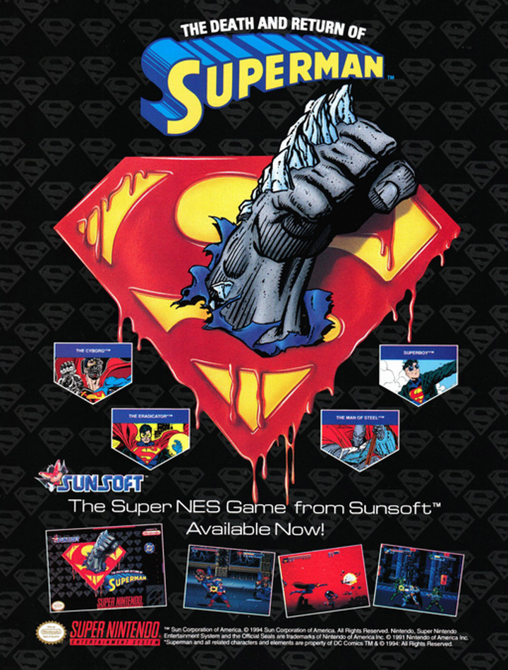 The Death and Return of Superman Ad
