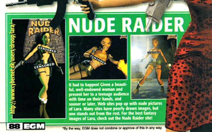 Tomb Raider - Nude Raider Webpage