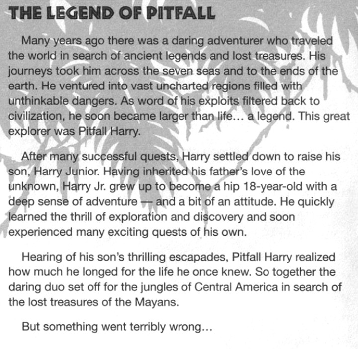 Pitfall: The Mayan Adventure Game Manual