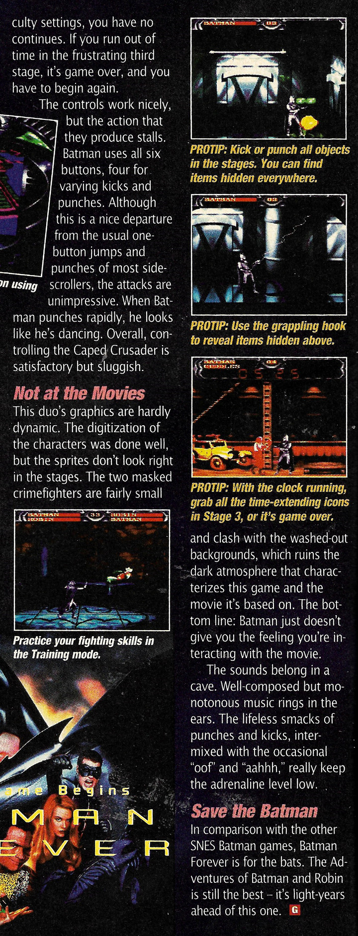 Batman Forever GamePro Review